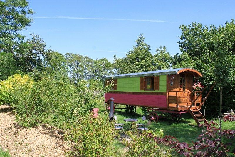 Gipsy caravan glamping in France