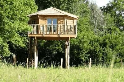 Cabane perchée dans les arbres pour famille