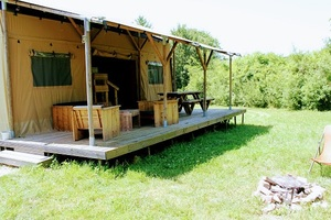 lodge safari toile et bois